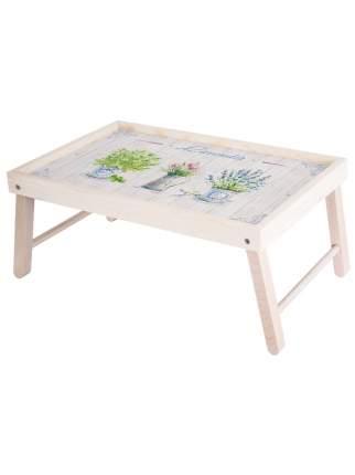 """Столик для завтрака """"Лаванда"""" 59х32,5х22 см, беленный, Дубравия, KRK-006-BT"""