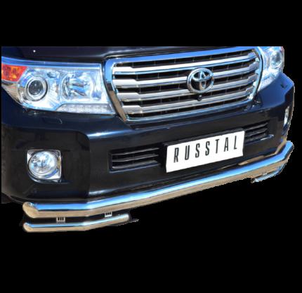 Защита переднего бампера d76/42 для Toyota Land Cruiser 200 2012-2015