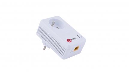 Сетевой адаптер Powerline Qtech QPLINE-500S White