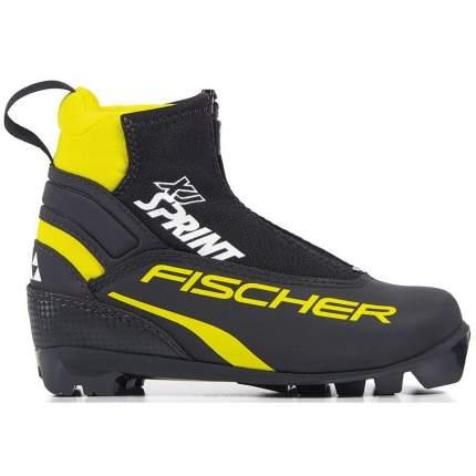 Ботинки для беговых лыж Fischer Xj Sprint 2020, black/yellow, 30