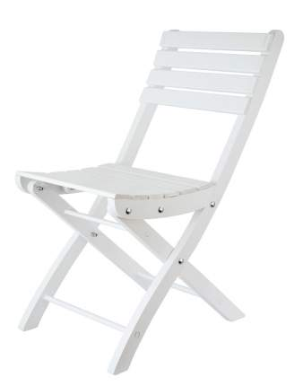 Стул для дачи Дубравия Комфорт KRF-GS-010 white 94х40х9 см