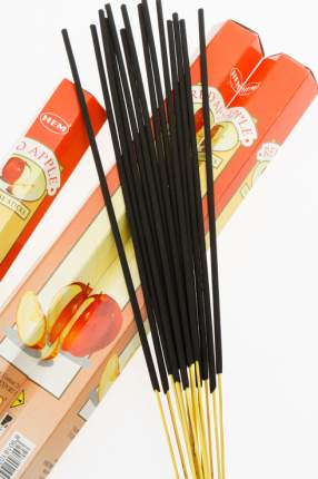 Шестигранные благовония с ароматом красного яблока, 6х20 шт. HEM 2948_упак