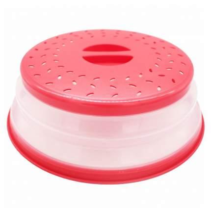 Cкладная крышка для посуды в микроволновую печь, красн., Kitchen Angel KA-MWC-03
