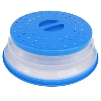 Cкладная крышка для посуды в микроволновую печь, син., Kitchen Angel KA-MWC-01