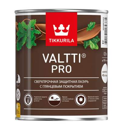 Защитная лазурь Tikkurila Valtti Pro сверхпрочная глянцевая 0,9 л