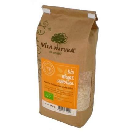 Крупа семолина (манка) пшеничная жерновая био VILA NATURA 4 пачки по 500 граммов