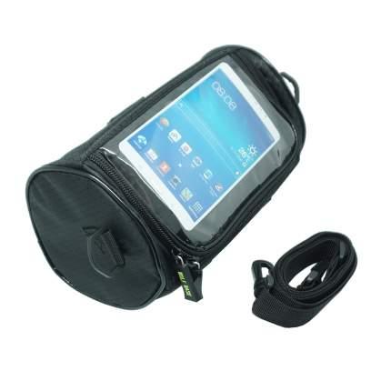 Сумка на руль с окошком для смартфона, с плечевым ремнём