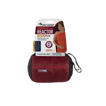 Вкладыш Sea To Summit Reactor Plus Compact Thermolite Mummy Liner Red Sack/Black&Red Liner