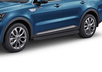 """Пороги на автомобиль """"Black"""" Rival для Kia Sorento IV 2020-н.в., 180 см, F180ALB.2806.1"""
