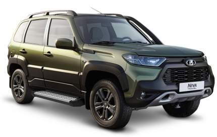 """Пороги на автомобиль """"Bmw-Style круг"""" Rival Lada Niva Travel 2021-н.в., D160AL.6006.1"""