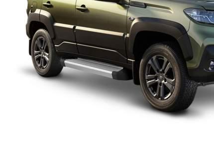 """Пороги на автомобиль """"Silver"""" Rival для Lada Niva Travel 2021-н.в., 160 см, F160AL.6006.1"""