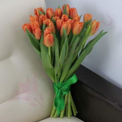 Монобукет из 25 оранжевых тюльпанов FlorPro