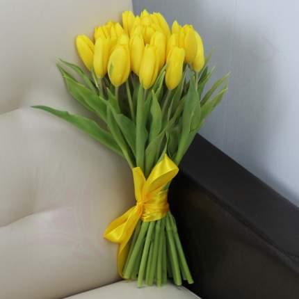 Монобукет из 25 желтых тюльпанов FlorPro
