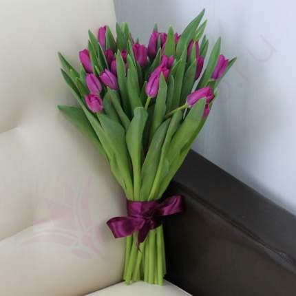 Монобукет из 25 фиолетовых тюльпанов FlorPro