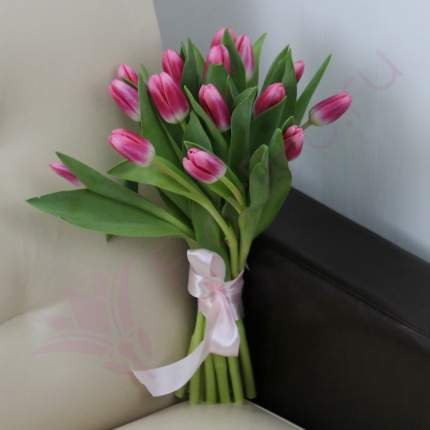 Монобукет из 15 розовых тюльпанов FlorPro