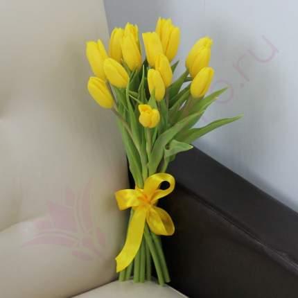 Монобукет из 15 желтых тюльпанов FlorPro
