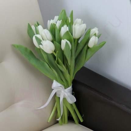 Монобукет из 15 белых тюльпанов FlorPro
