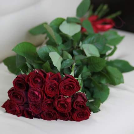 Монобукет из 15 красных роз FlorPro Ред Наоми 40 см