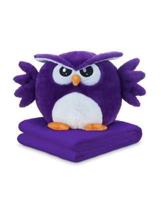 Игрушка-подушка Сова с пледом (3 в 1), 50 см, цвет фиолетовый SovaPledFiolet