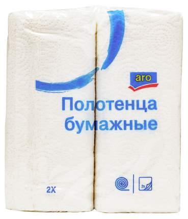 Полотенца Аro бумажные двухслойные 22х24см 2 рулона, 2 шт,