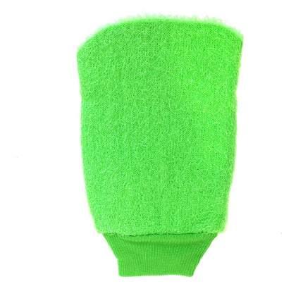 Мочалка-массажер в форме рукавицы Bath Towel, 13х21 см (Цвет: Салатовый  )