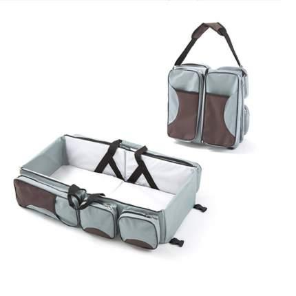 Сумка-люлька трансформер 2 в 1 Markethot Baby Серый/Коричневый