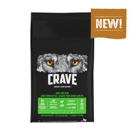 Сухой корм для взрослых собак Crave Holistic, беззерновой , говядина, ягненок, 7кг