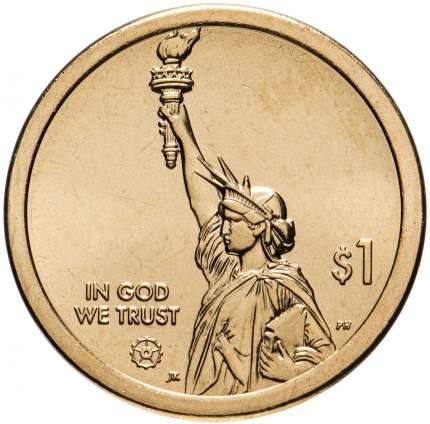 Монета 1 доллар США в капсуле. Американские инновации телескоп Хаббла Мэриленд 2020 UNC