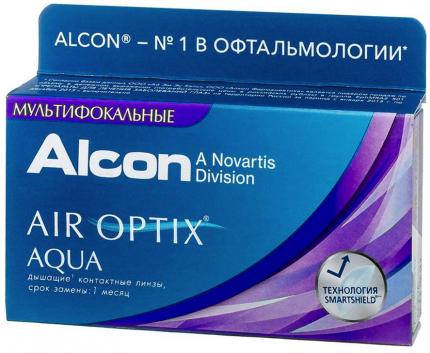 Контактные линзы  мультифокальные AirOptix HydraGlyde for Multifocal low 3 шт.