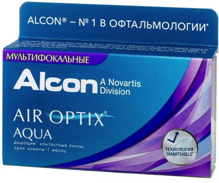Контактные линзы AirOptix HydraGlyde for Multifocal 3 шт. PWR +4,25, R 8.6, Аддидация=L