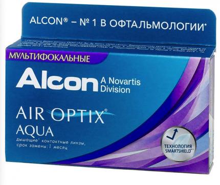 Контактные линзы  мультифокальные AirOptix HydraGlyde for Multifocal high 3 шт.