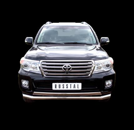 Защита переднего бампера d76/75х42 для Toyota Land Cruiser 200 2012-2015