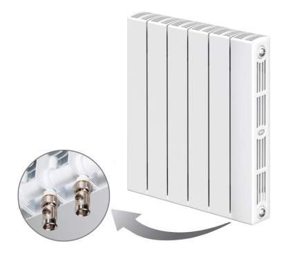 БиМеталлический радиатор Rifar SUPReMO Ventil 500 08 секций с нижним правым подключением