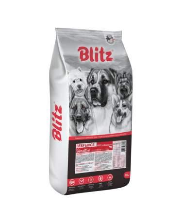 Сухой корм для собак BLITZ ADULT BEEF & RICE, говядина,  15кг