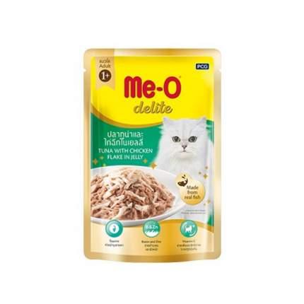 Влажный корм для кошек Me-O Дэлит, тунец, краб, 12шт, 70г