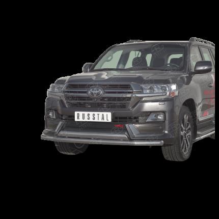 Защита переднего бампера d63 секции-d75х42 дуга для TOYOTA LAND CRUISER 200 TRD 2019-