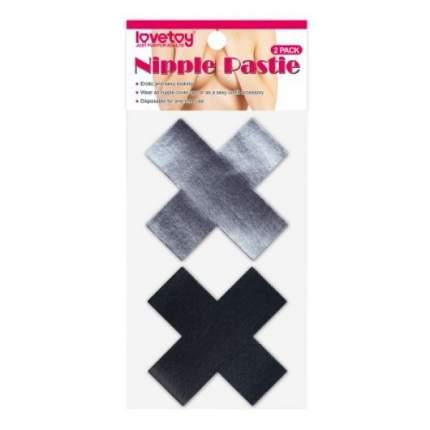 Пэстисы для груди Lovetoy Cross Pattern Nipple Pasties (2 Pack)