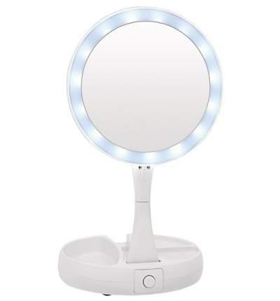 Складное зеркало для макияжа с подсветкой и органайзером 1828
