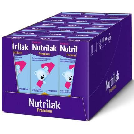 Готовая молочная смесь Nutrilak Premium 1, Нутрилак с рождения, 200 мл., упак. 18 шт.