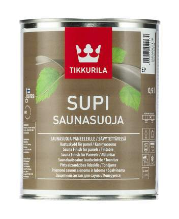 Защитный состав Tikkurila Supi Saunasuoja для сауны колеруемый 0,9 л