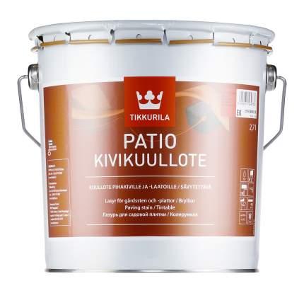 Лазурь Tikkurila Patio Kivikuullote для садовой плитки колеруемая 2,7 л