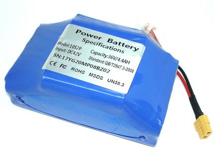 Аккумулятор ABC 10S2P Li-ion 36V/4.4Ah для гироскутера