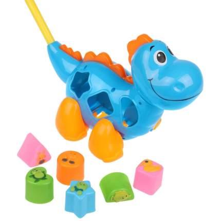 Каталка-сортер с ручкой Динозаврик Наша Игрушка 613133