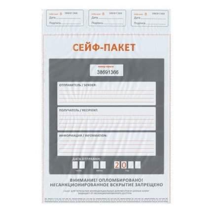 Сейф-пакеты полиэтиленовые (296х400+45 мм), до 500 листов формата А4, 50 шт., индив номер