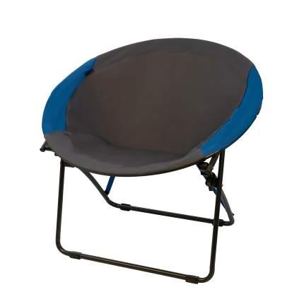 Туристическое раскладное кресло для дачи и кемпинга Baziator 8080 круглое, синее