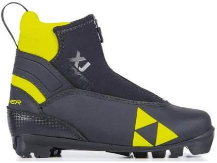 Ботинки для беговых лыж Fischer Xj Sprint 2021, черные/желтые, 40