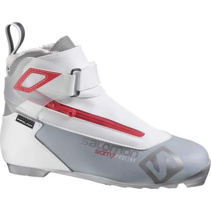 Ботинки для беговых лыж Salomon Xc Shoes Siam 7 Prolink 2019, серые, 36