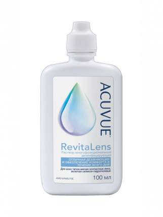 Многоцелевой раствор для контактных линз ACUVUE Revitalens 100 мл, с контейнером для линз
