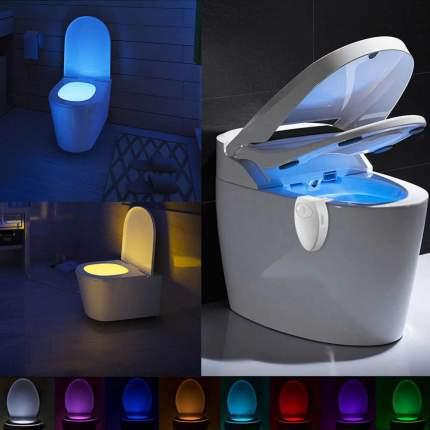 LED Подсветка для унитаза с датчиком движения 8 цветов