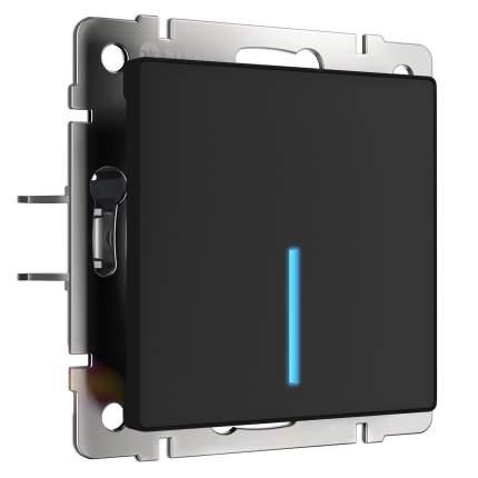 Сенсорный выключатель Werkel одноклавишный с подсветкой черный W4510108